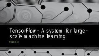 TensorFlow– A system ...