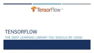 TensorFlow - cs.uni.edu