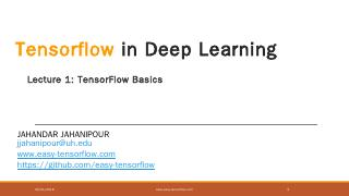 Tensorflow in Deep Learning - Easy TensorFlow