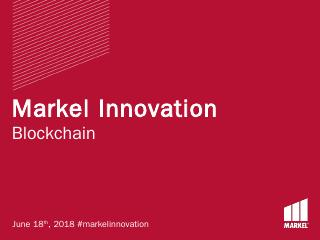The Azure BlockChain Workbench - Markel Innov...