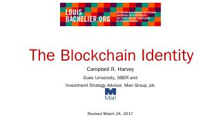 The Blockchain Identity - Risk Forum 2017