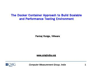 The Docker Container Approach to Build Scalab...