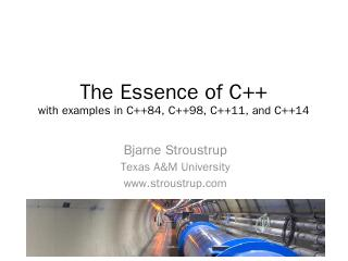 The Essence of C++ with examples in C++11 and...