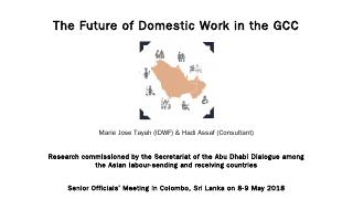 The Future of Domestic Work in the GCC - Abu ...