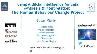 The Human Behaviour Change Project - Emcdda