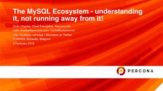 the mysql ecosystem-understanding it not runn...