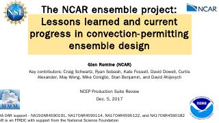 The NCAR ensemble project: Lessons learned an...