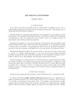 黎曼猜想的论文预印本