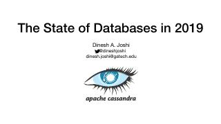 the-state-of-databases-in-2019