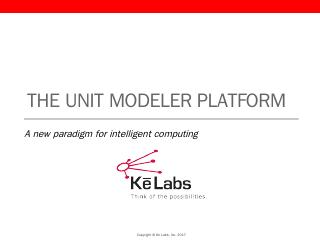 The Unit Modeler® Pla...
