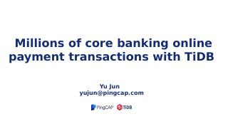 Millions of Core Banking online payment trans...