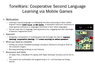 ToneWars: Cooperative Second Language Learnin...