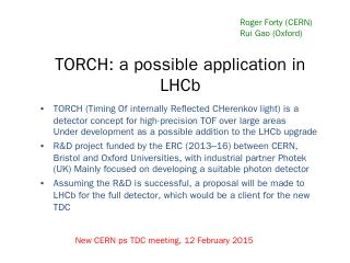 TORCH: a possible application in LHCb - CERN ...