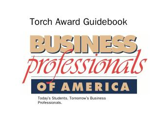 Torch Award Guidebook - MN BPA College Division