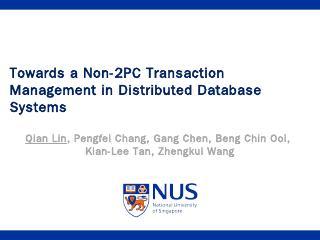 Towards a Non-2PC Transaction Management in D...
