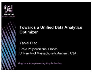 towards a unified data analytics optimizer
