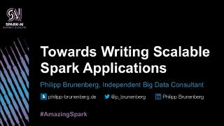 towards writing scalable big data applications
