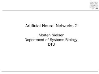 Training of artificial neural networks.