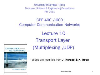 Transport Layer - Department of Computer Scie...