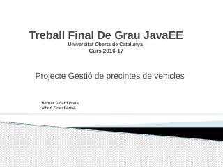 Treball Final De Grau Universitat Oberta de C...