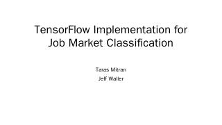 TriPython July 2016 Meeting: TensorFlow Imple...