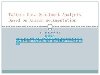 Twitter Data Sentiment Analysis Based on Amaz...