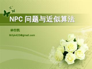林衍凯-NPC问题与近似算法