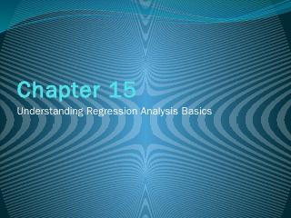 Understanding Regression Analysis Basics