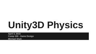 Unity3D Physics