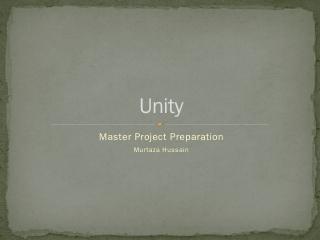 Unity 3d - Computer Graphics Bremen