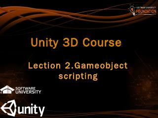 Unity 3D Course - SoftUni