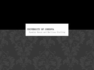 University of Cordova - WordPress.com