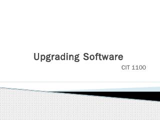 Upgrading Software