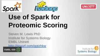 Use of Spark for Proteomic Scoring - Uninett