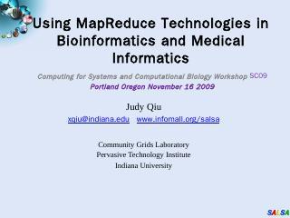 Using MapReduce Technologies in ... - Communi...