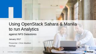 Using OpenStack Sahara and Manila to run Anal...