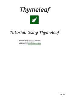 usingthymeleaf