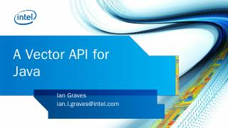 Vector APIs for Java - Oracle
