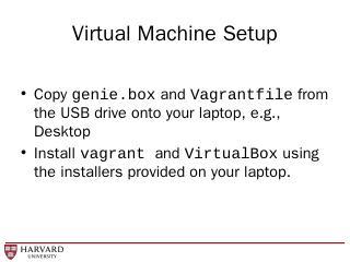 Virtual Machine Setup