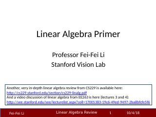 计算机视觉的线性代数引物
