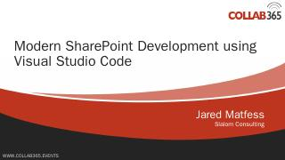 Visual Studio Code - Jared Matfess