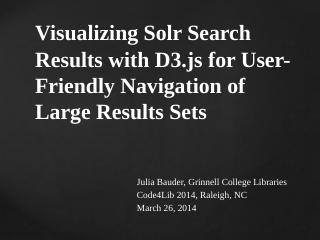 Visualizing Solr Search Results with D3.js fo...