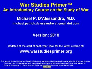 War Studies Primer - Anatomy Atlases