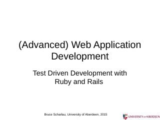 Web Application Development - Homepages | The...