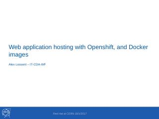 Web application hosting with Openshift and Do...