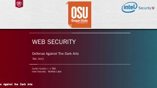 Web Security - Classes