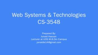 Web Systems & Technologies