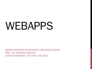WebApps mit HTML5 & CSS3