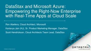 Webinar: DataStax and Microsoft Azure: Empowe...