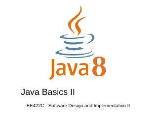 Week 2  Java Basics II